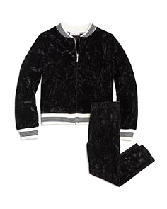 Design History - Girls' Crushed Velvet Bomber Jacket & Leggings - Little Kid